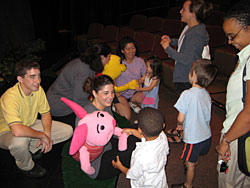 Pooh cast with Kids