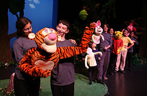 Pooh and Tiger onstage